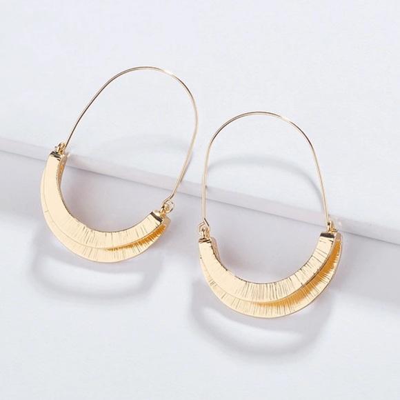 Anthro Myra Gold Hoop Earrings